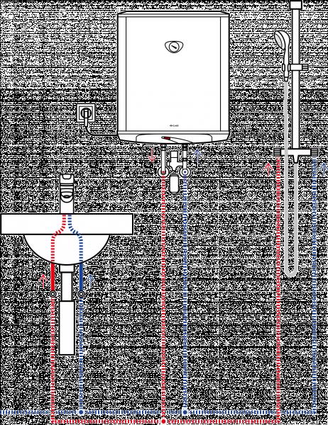 Пример схемы установки накопительного водонагревателя Clage S 50