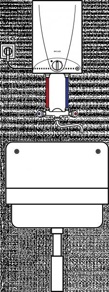 Пример схемы установки накопительного водонагревателя Clage S 5-O