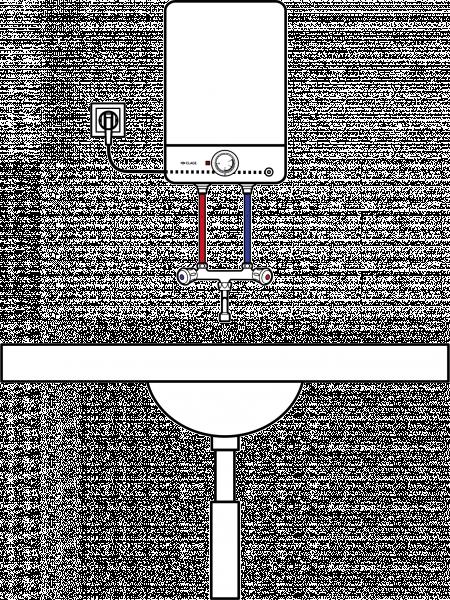 Пример схемы установки накопительных водонагревателей Clage S 10-O или S 15-O