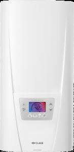 Мощный проточный водонагреватель с микропроцессорным управлением, возможностью выбора мощности, сенсорной панелью управления с многофункциональным ЖК-дисплеем.