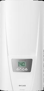 Мощный проточный водонагреватель с электронным управлением и возможностью выбора мощности.