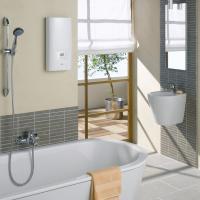 Проточный водонагреватель Clage DSX легко располагается практически в любом месте