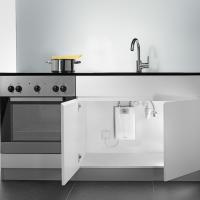 Установка проточного водонагревателя Clage CEX-U под кухонной раковиной
